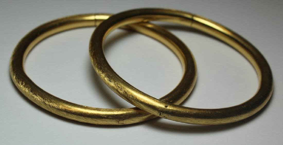 JEWELRY. Pair of Italian 18kt Gold Bracelets.