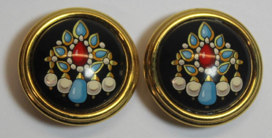 JEWELRY. (2) Pairs of Hermes Earrings or Ear Clips - 5