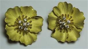 JEWELRY. Pair of Tiffany & Co. 18kt Gold, Enamel,