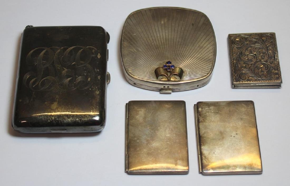 STERLING. Grouping of Silver Compacts Inc. Tiffany