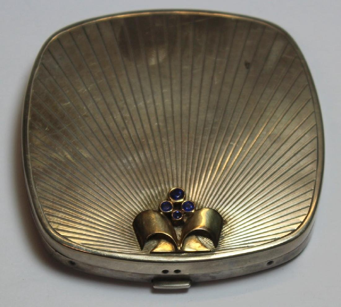 STERLING. Grouping of Silver Compacts Inc. Tiffany - 2