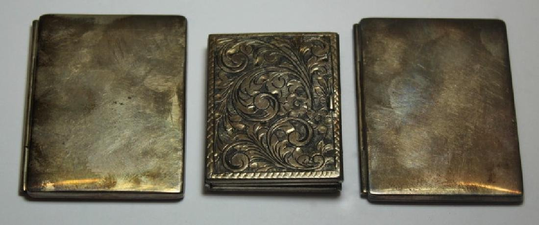 STERLING. Grouping of Silver Compacts Inc. Tiffany - 6