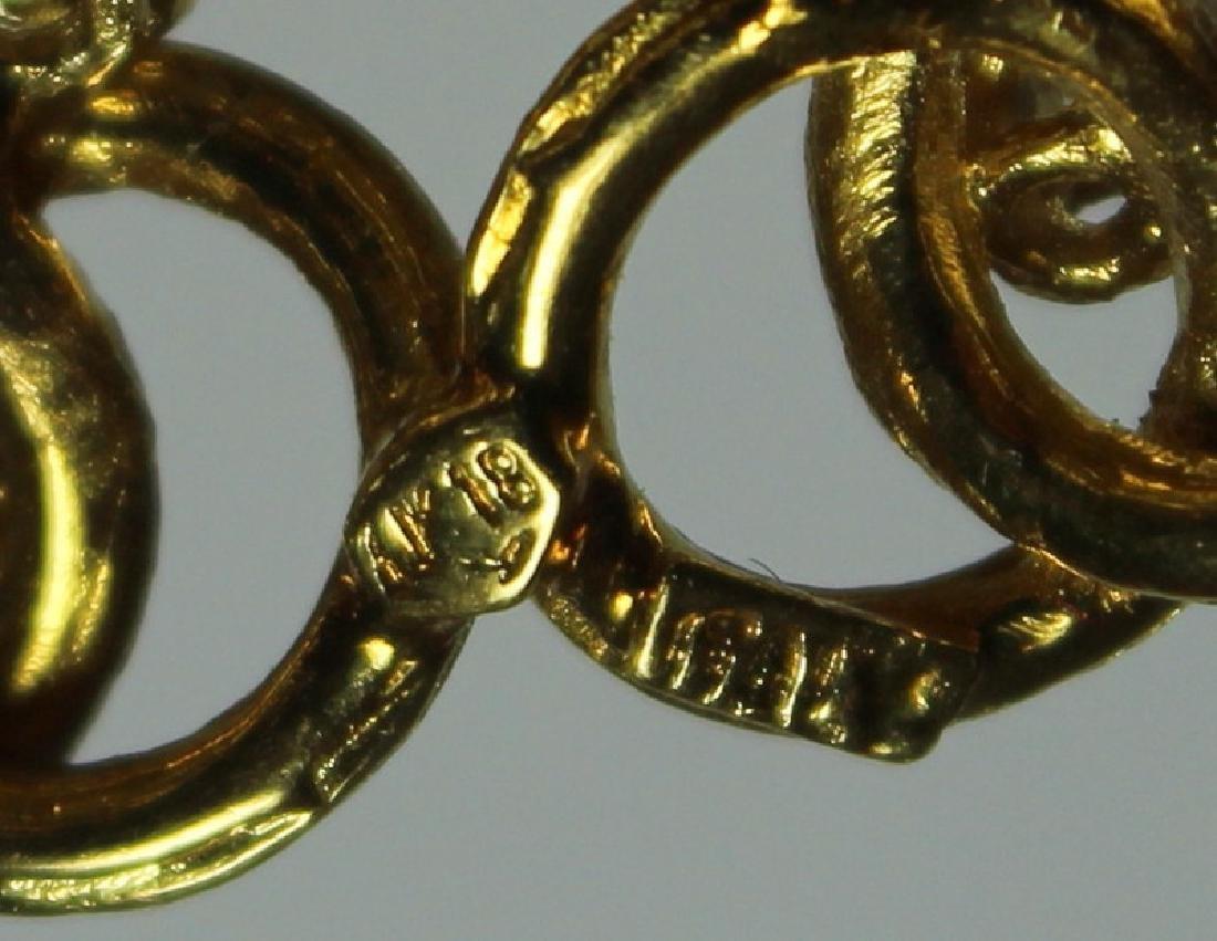 JEWELRY. Italian 18kt Gold and Diamond Brooch. - 5