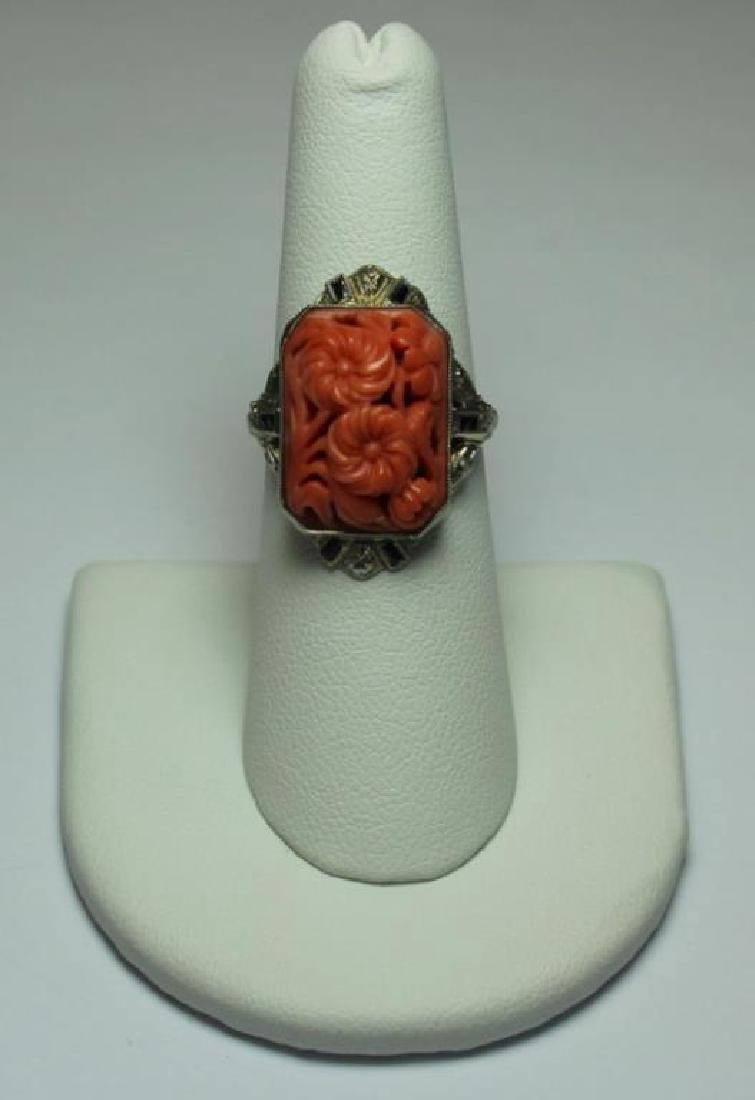 JEWELRY. Grouping of Estate Coral Jewelry. - 8