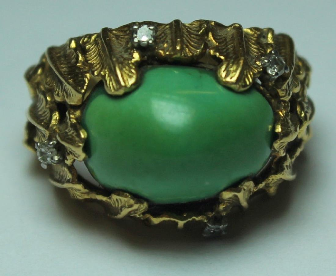 JEWELRY. J. Rossi 18kt Gold, Turquoise, and - 2