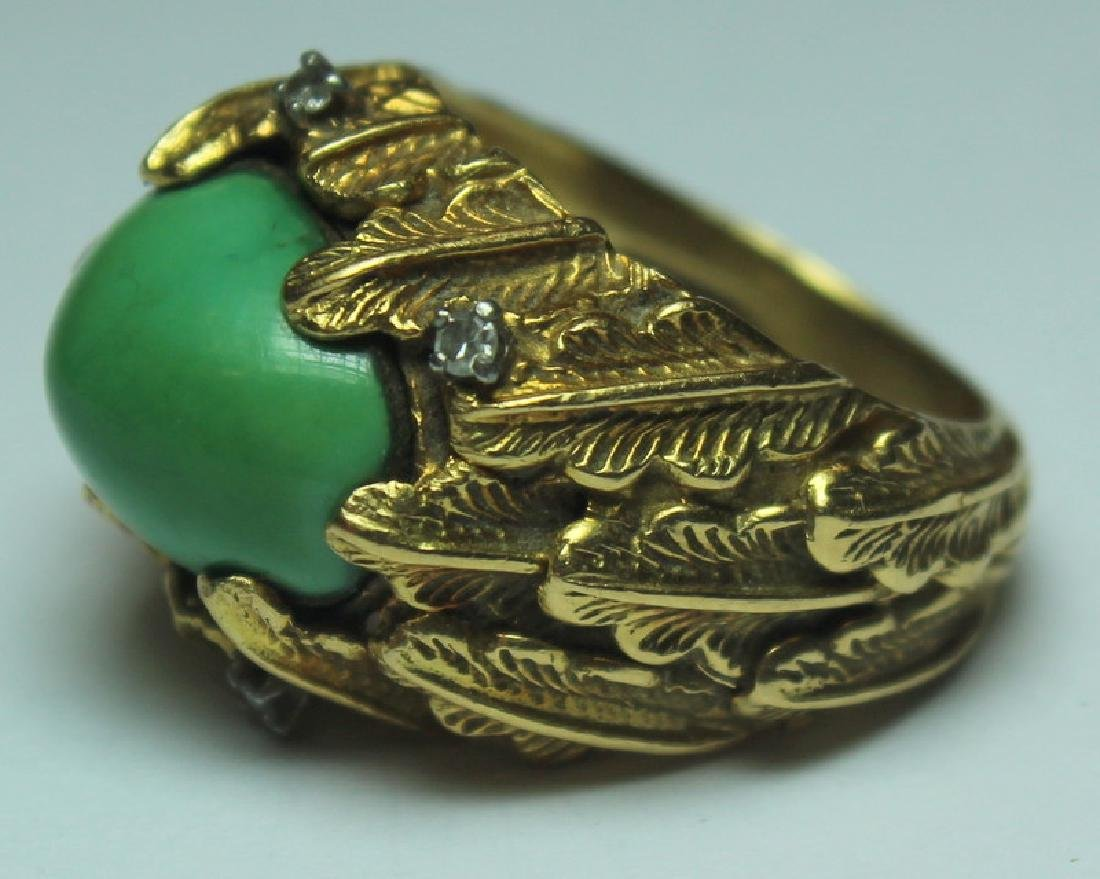 JEWELRY. J. Rossi 18kt Gold, Turquoise, and - 3