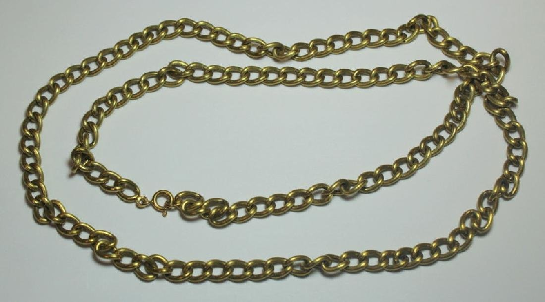 JEWELRY. Italian 18kt Gold Chain Link Necklace.