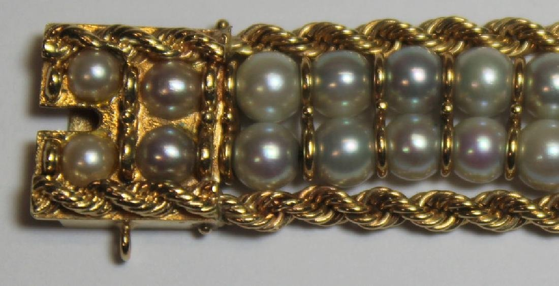 JEWELRY. Assorted Gold and Pearl Jewelry Grouping. - 7