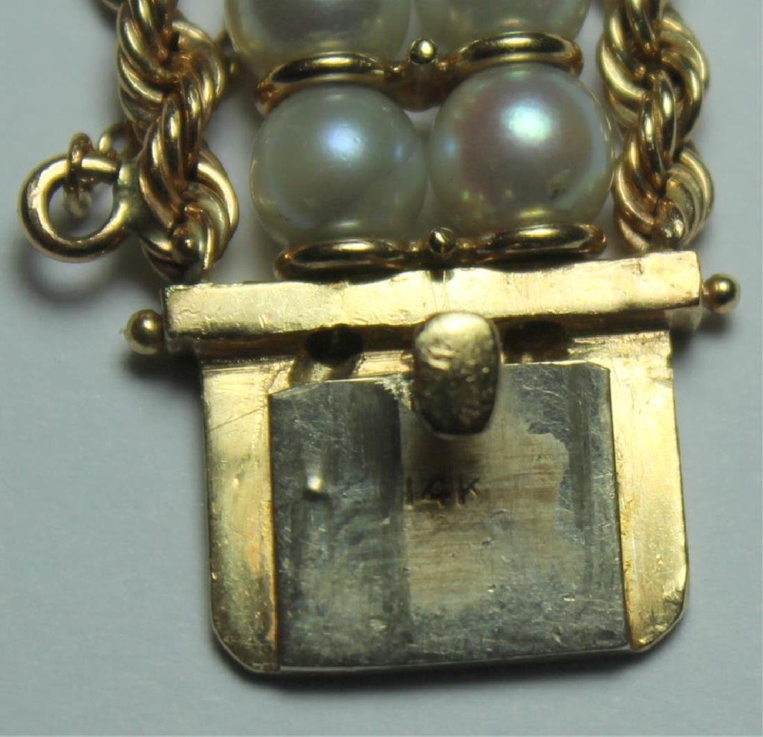 JEWELRY. Assorted Gold and Pearl Jewelry Grouping. - 8