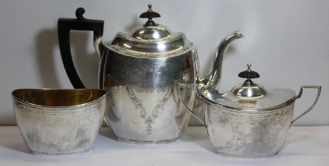 STERLING. Chester Billings & Son Sterling Tea Set.