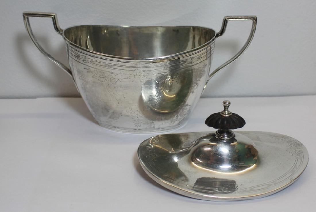 STERLING. Chester Billings & Son Sterling Tea Set. - 3