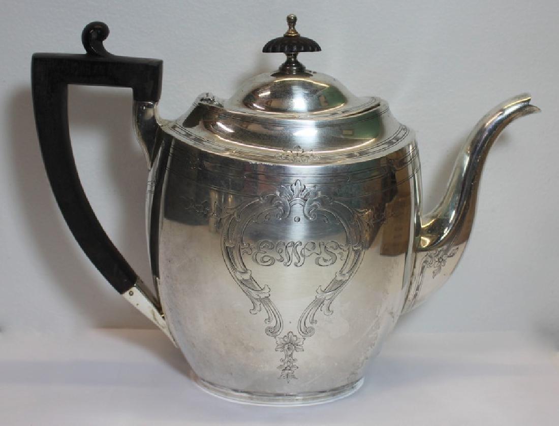 STERLING. Chester Billings & Son Sterling Tea Set. - 6