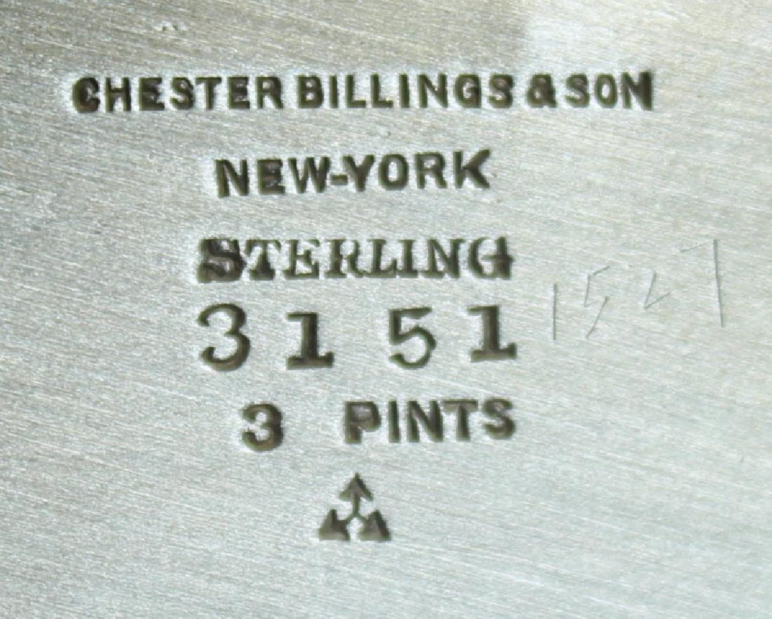 STERLING. Chester Billings & Son Sterling Tea Set. - 8