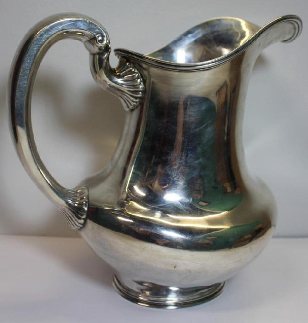 STERLING. Large Towle Sterling Water Pitcher. - 2