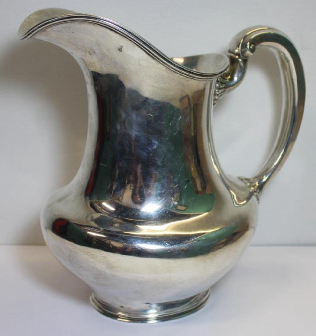 STERLING. Large Towle Sterling Water Pitcher. - 3