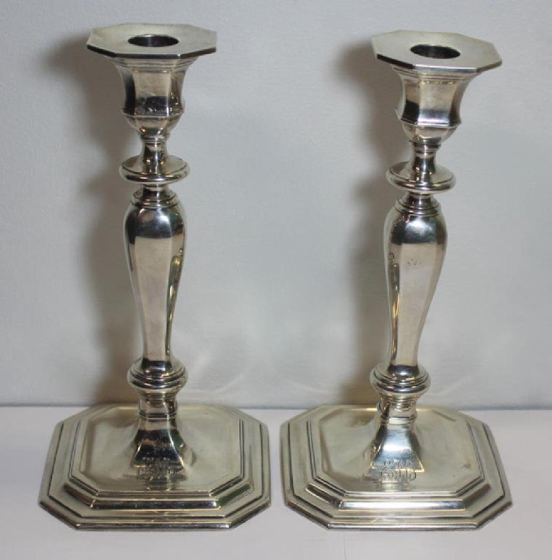 STERLING. Pair of Tiffany & Co. Candlesticks.