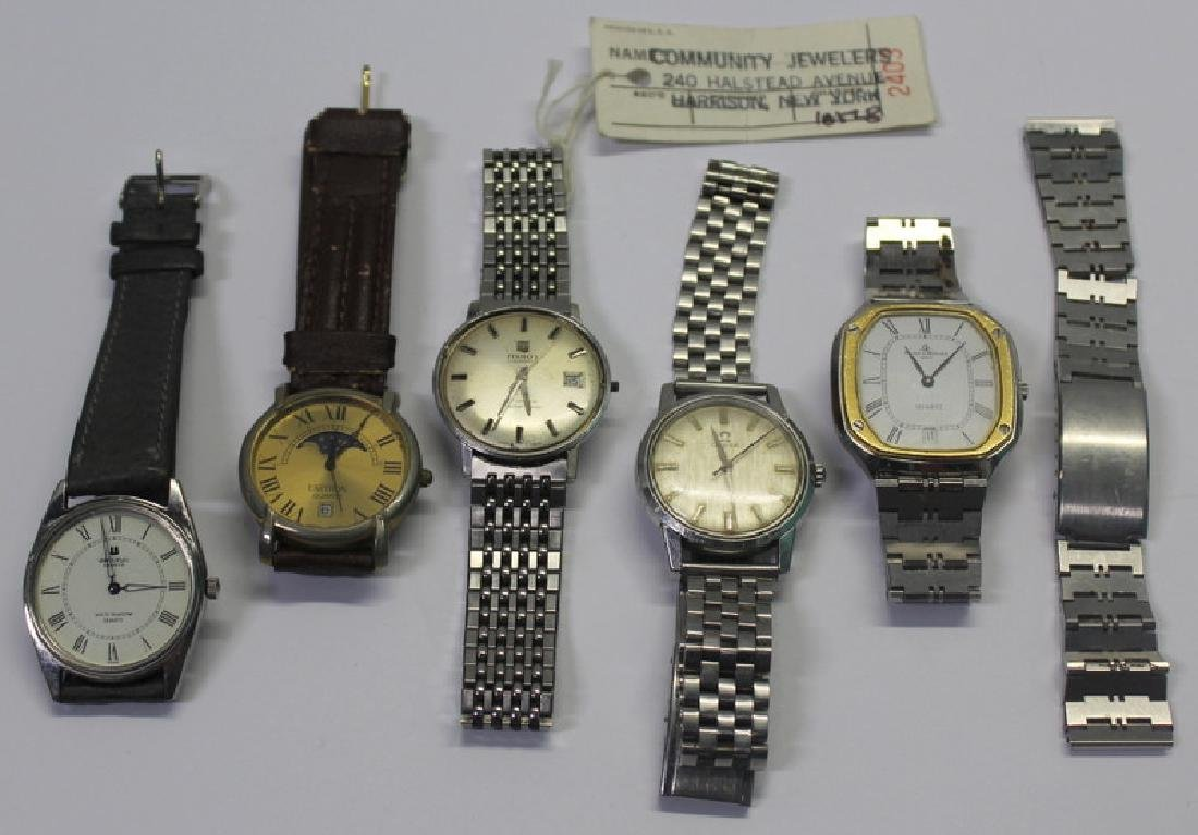 JEWELRY. Grouping of Men's Watches Inc. Omega.