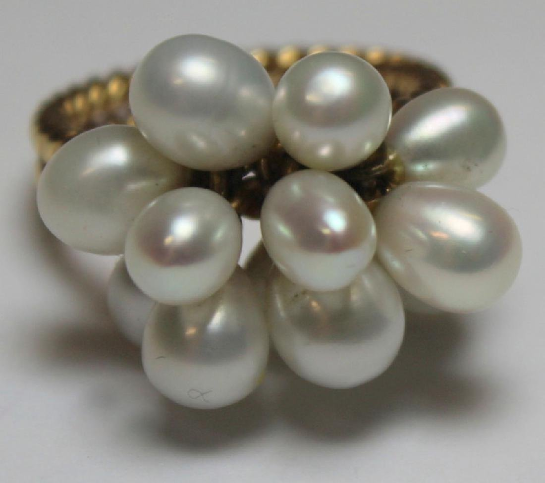 JEWELRY. Gold and Pearl Jewelry Grouping. - 3