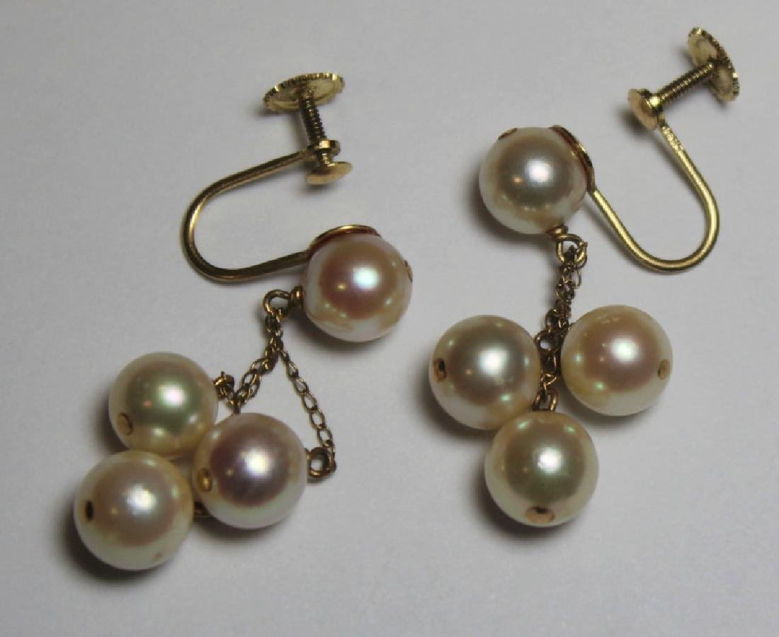 JEWELRY. Gold and Pearl Jewelry Grouping. - 7