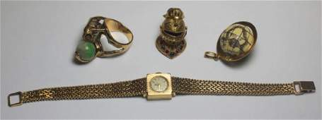 JEWELRY. Ladies Assorted Gold Jewelry Grouping.