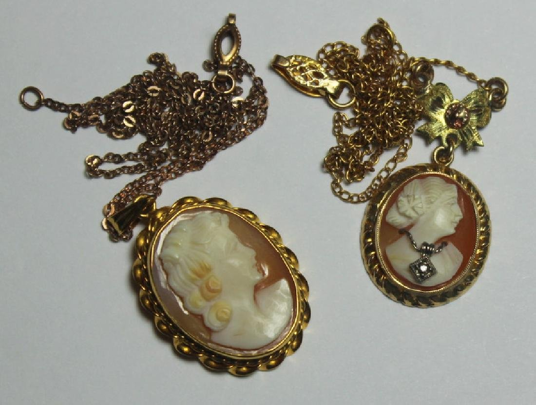 JEWELRY. Assorted Grouping of Cameo Jewelry. - 2