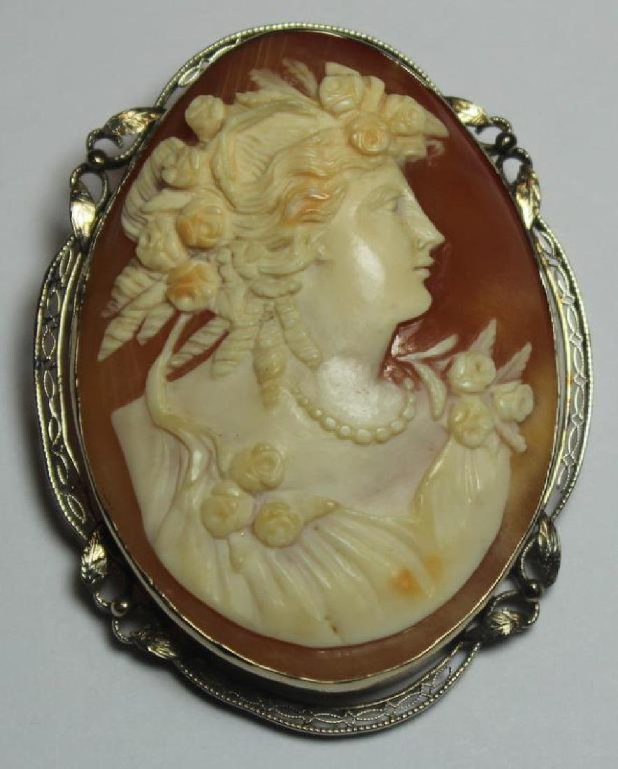 JEWELRY. Assorted Grouping of Cameo Jewelry. - 3