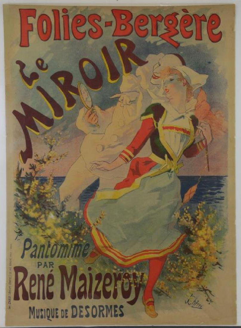 "CHERET, Jules. Color Lithograph Poster. ""Folies- - 2"