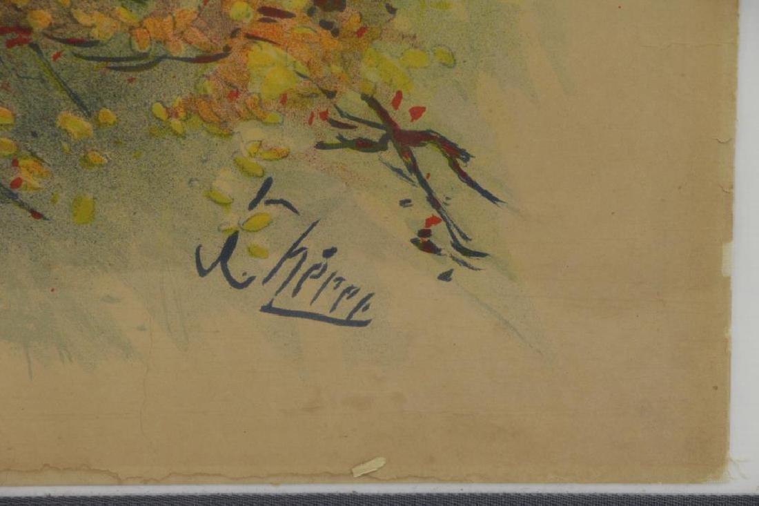 "CHERET, Jules. Color Lithograph Poster. ""Folies- - 4"
