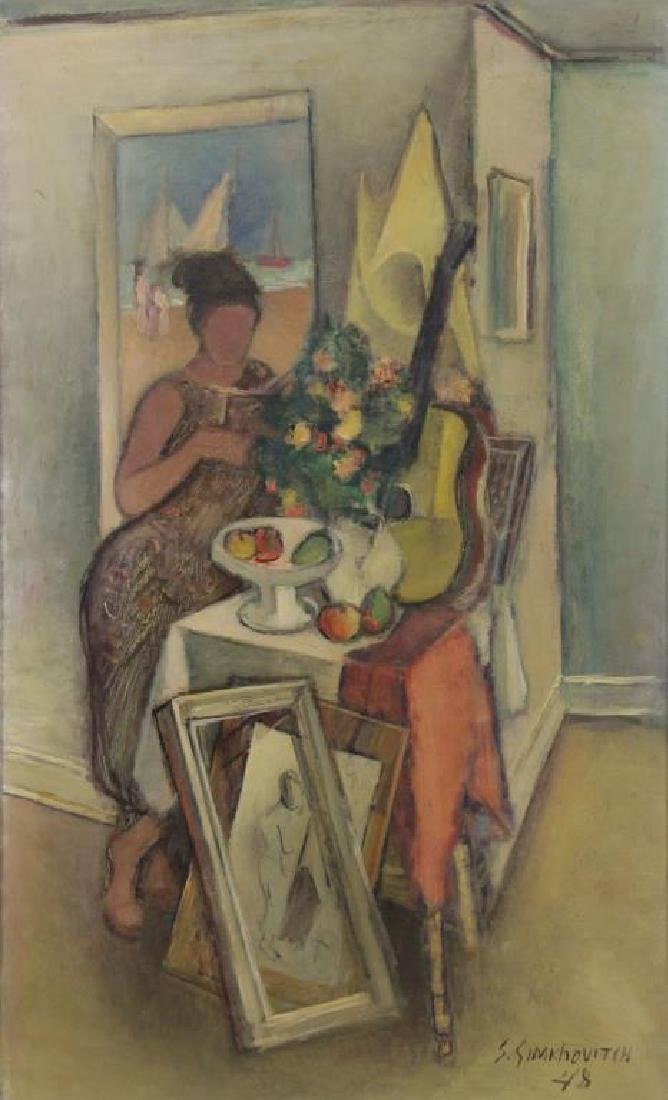 "SIMKHOVITCH, Simka. Oil on Canvas. ""Arrangement"""