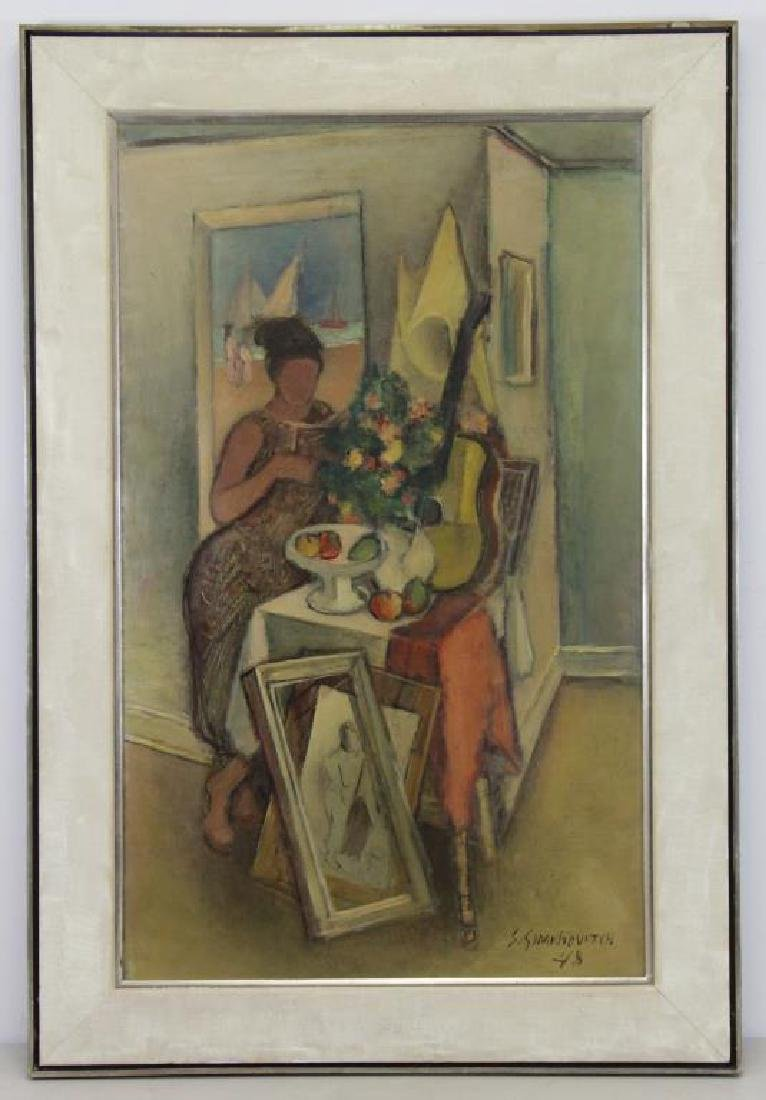 "SIMKHOVITCH, Simka. Oil on Canvas. ""Arrangement"" - 2"