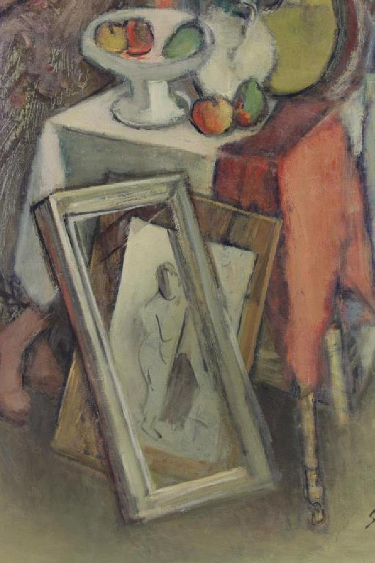"SIMKHOVITCH, Simka. Oil on Canvas. ""Arrangement"" - 4"