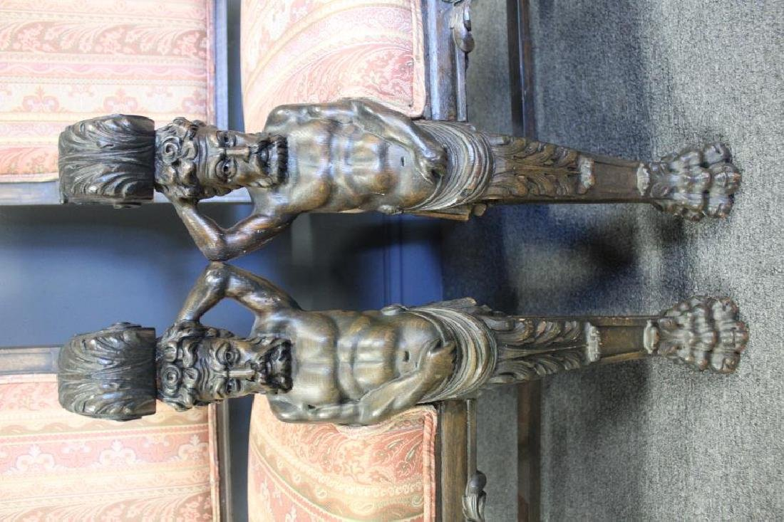 """Pair Of """"Man in the Mountain""""Carved Oak - 2"""