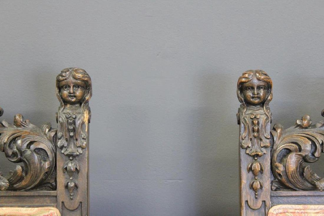 """Pair Of """"Man in the Mountain""""Carved Oak - 3"""