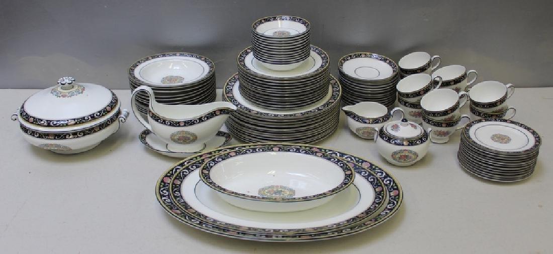 """WEDGWOOD. """"Runnymede"""" Porcelain Service for 12."""