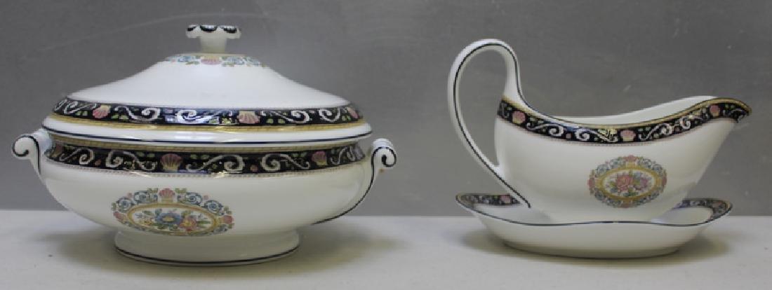 """WEDGWOOD. """"Runnymede"""" Porcelain Service for 12. - 4"""