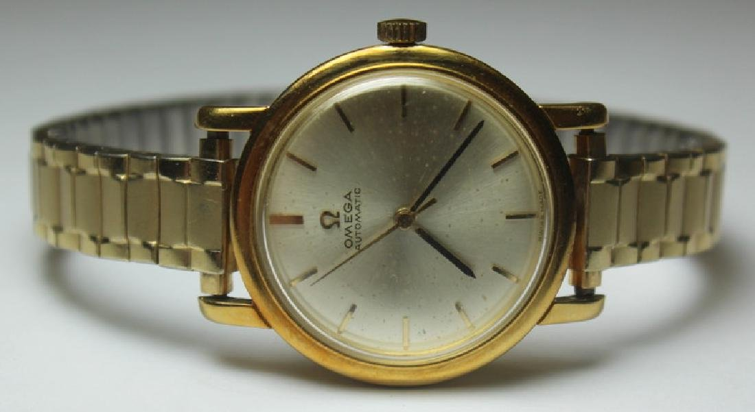 JEWELRY. Ladies Omega Gold Watch, Ref No 161 004.