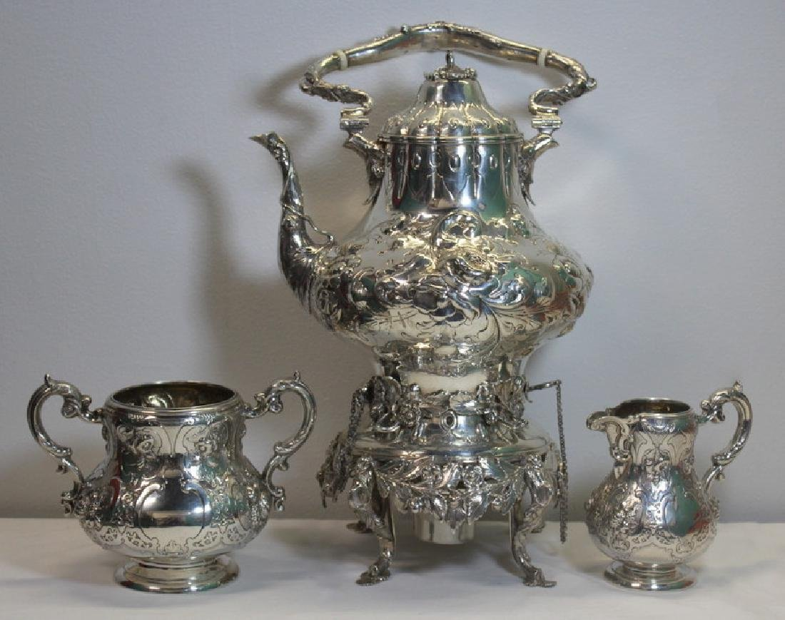 SILVER. 3 Piece Assembled Scottish Silver Tea Service.