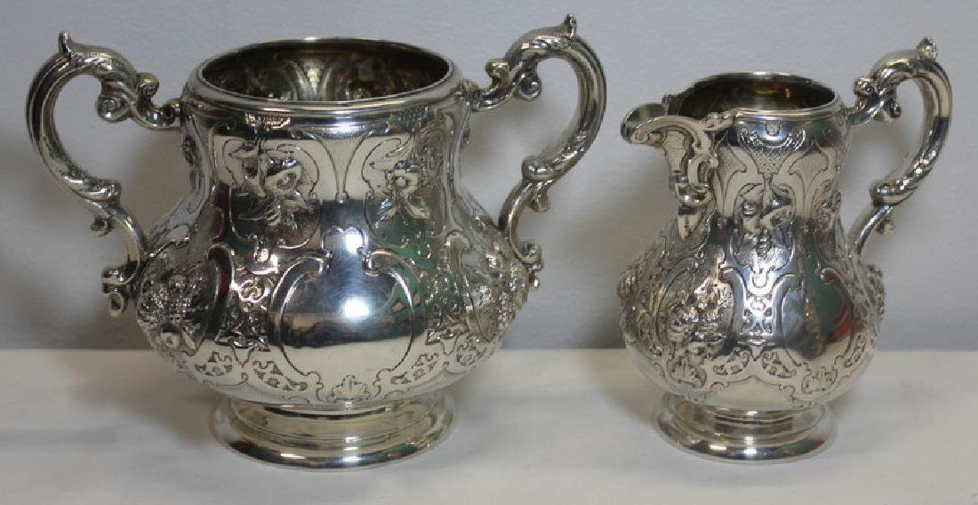 SILVER. 3 Piece Assembled Scottish Silver Tea Service. - 2