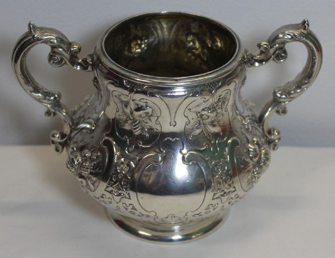 SILVER. 3 Piece Assembled Scottish Silver Tea Service. - 3