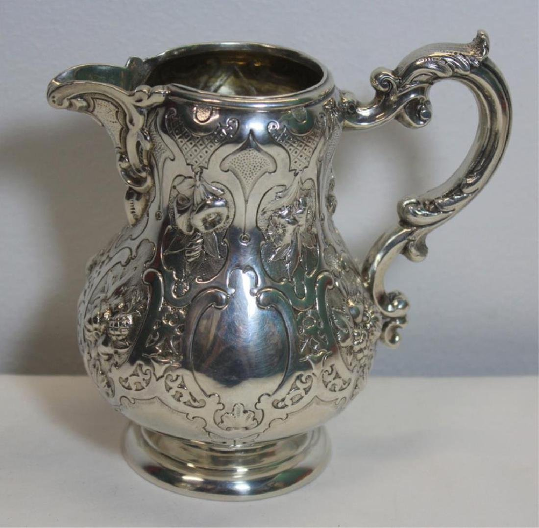 SILVER. 3 Piece Assembled Scottish Silver Tea Service. - 5