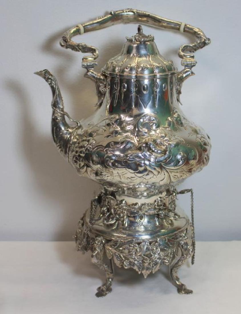SILVER. 3 Piece Assembled Scottish Silver Tea Service. - 6