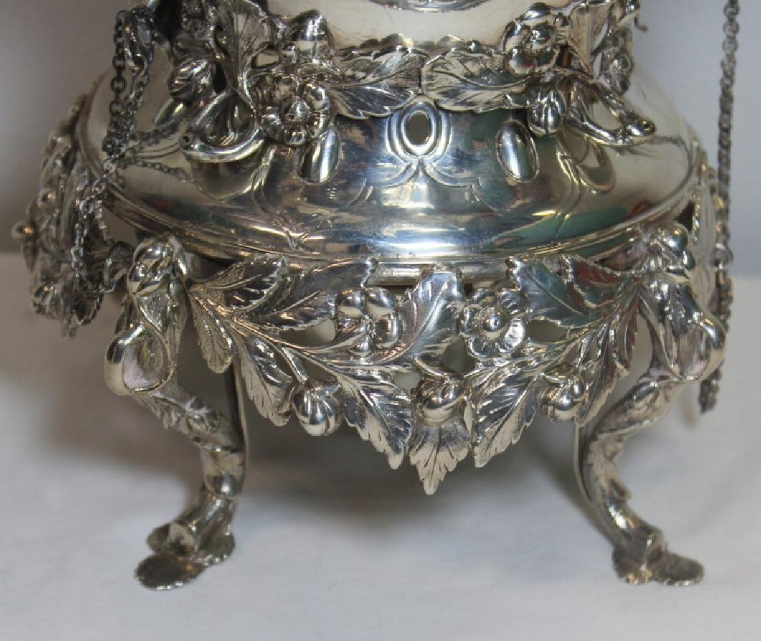 SILVER. 3 Piece Assembled Scottish Silver Tea Service. - 7