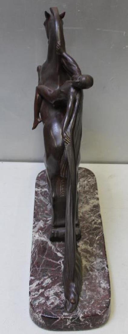 Charles, Charles.Art Deco Patinated Bronze of Nude - 5