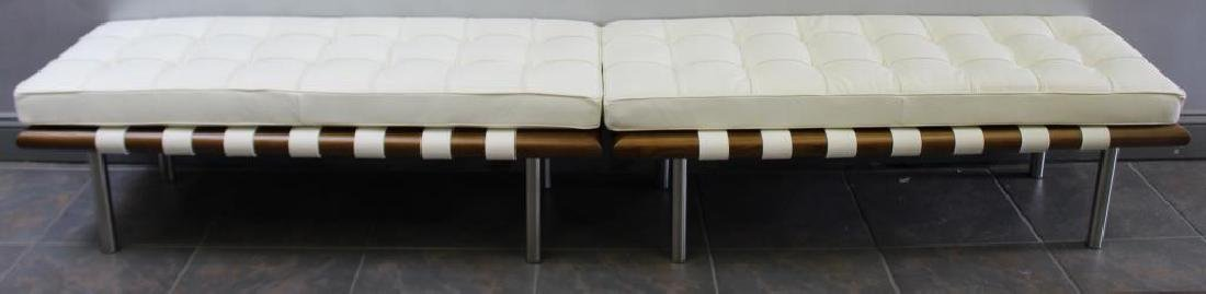 Pair of Midcentury Style Leather Upholstered - 2