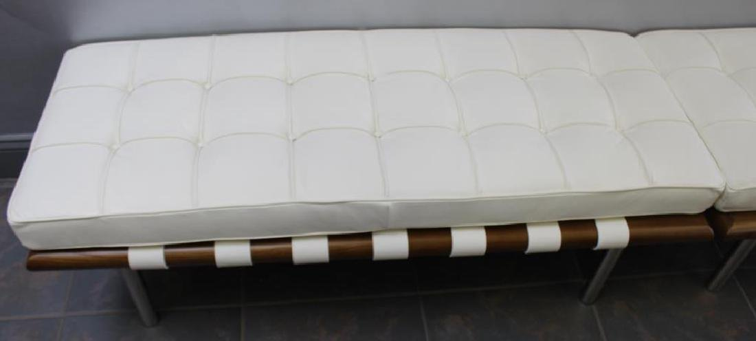 Pair of Midcentury Style Leather Upholstered - 4
