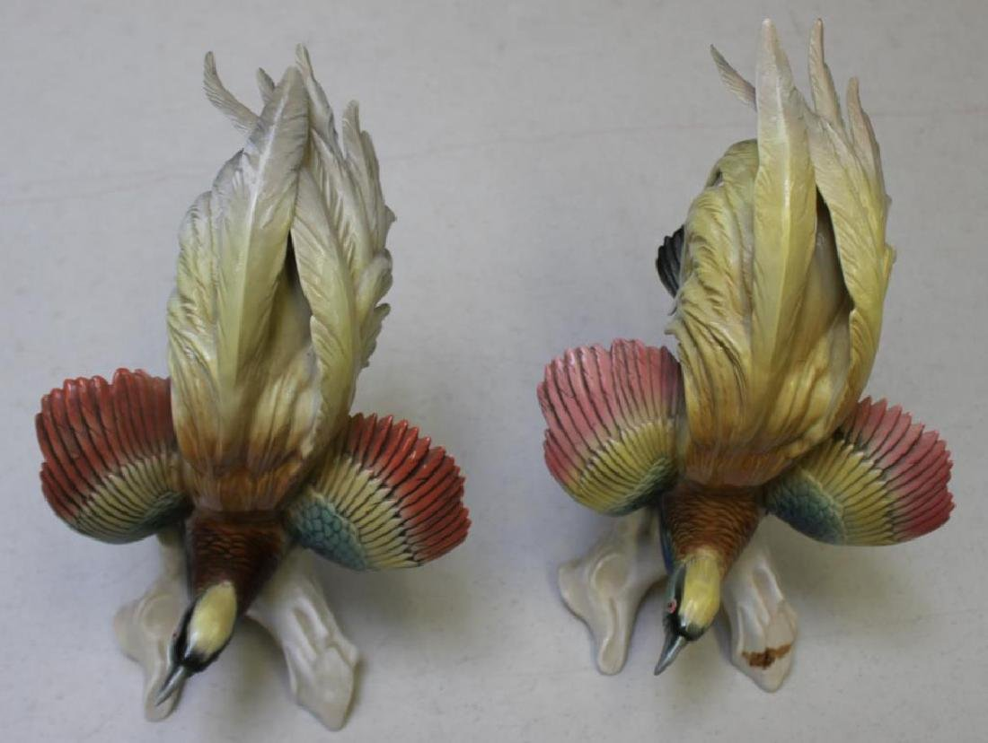 Pair Of Early Mark Herend Porcelain Parrots - 2