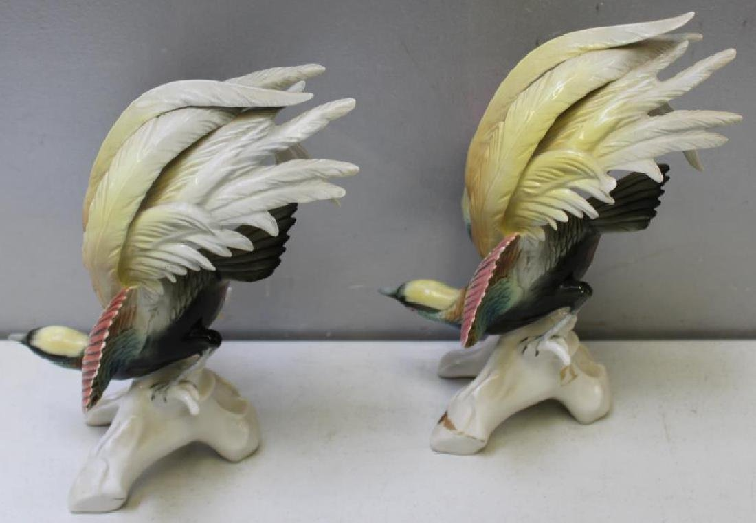Pair Of Early Mark Herend Porcelain Parrots - 5