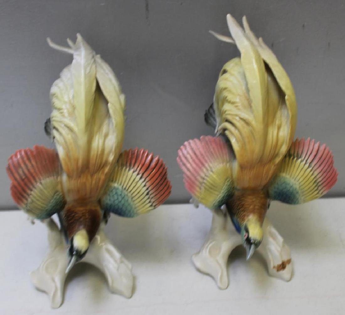 Pair Of Early Mark Herend Porcelain Parrots - 6