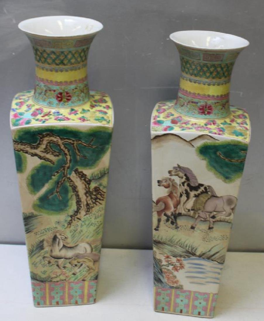 Pair Of Enamel Decorated And Signed Chinese - 3