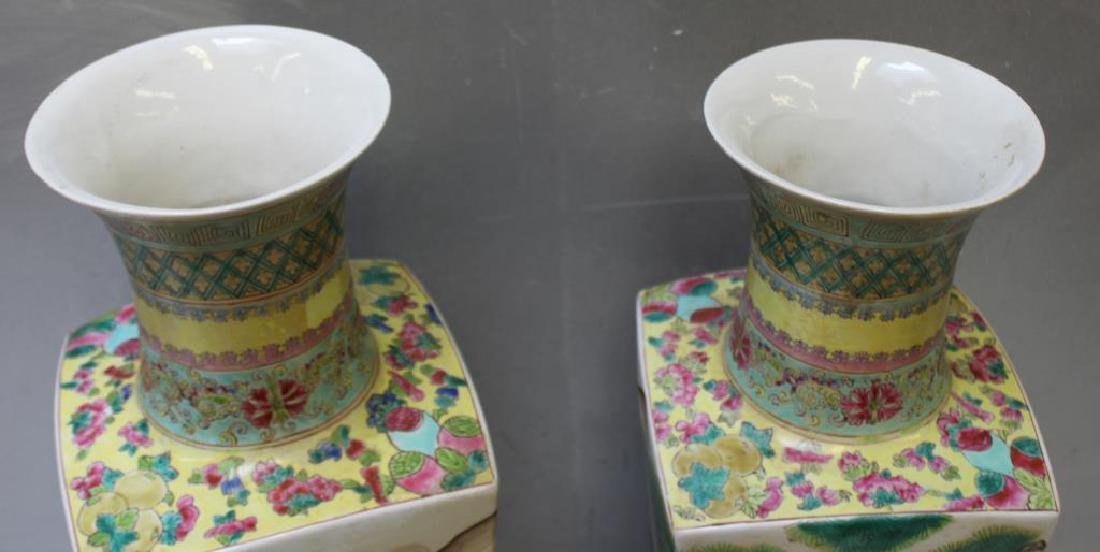 Pair Of Enamel Decorated And Signed Chinese - 5